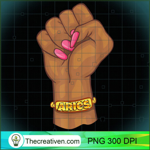 Black Power Feminist Aries Zodiac Sign T Shirt copy