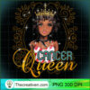 Black Queen Birthday Gift Horoscope Zodiac CANCER Long Sleeve T Shirt copy