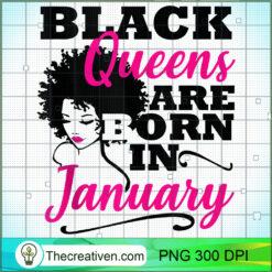 Black Queen January Birthday Capricorn Aquarius Women PNG, Afro Women PNG, Capricorn Queen PNG, Black Women PNG