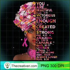 Black Women Fight Like A Queen Pink Ribbon Breast Cancer 1 PNG, Afro Women PNG, Cancer Queen PNG, Black Women PNG