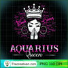 Black Women AQUARIUS Queen February Birthday Gifts T Shirt copy