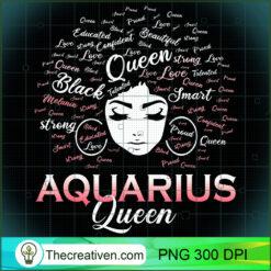 Black Women AQUARIUS Queen February PNG, Afro Women PNG, Aquarius Queen PNG, Black Women PNG