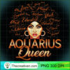 Black Women Afro Hair Art AQUARIUS Queen February Birthday T Shirt copy 1