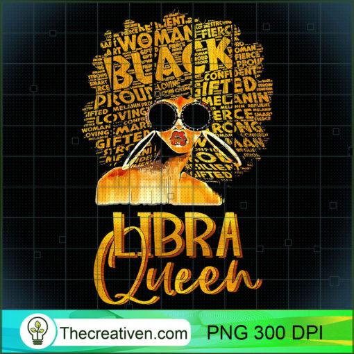 Black Women Afro Hair Art Libra Queen Libra Birthday T Shirt copy