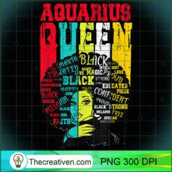 Black Women Afro Hair AQUARIUS Queen February PNG, Afro Women PNG, Aquarius Queen PNG, Black Women PNG