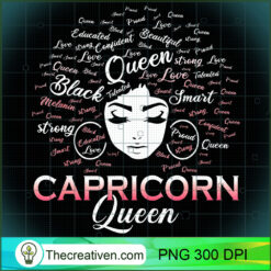 Black Women Capricorn Queen January PNG, Afro Women PNG, Capricorn Queen PNG, Black Women PNG