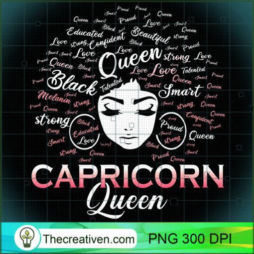 Black Women Capricorn Queen January Birthday T Shirt copy