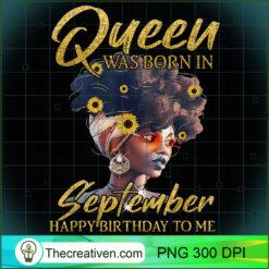 Black Women Queen Was Born In SEPTEMBER PNG, Afro Women PNG, Leo Queen PNG, Black Women PNG
