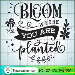 Bloom Where You Are Planted SVG Free, Garden SVG Free, Free SVG For Cricut Silhouette