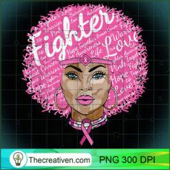 Breast CancerWomen Fighter Black Queen PNG, Afro Women PNG, Cancer Queen PNG, Black Women PNG