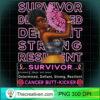 Breast Cancer Survivor Pink Ribbon Sunflower Black Queen Sweatshirt copy