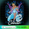 Cancer Fairy Zodiac Birthday Anime Fairies Black Queen Pullover Hoodie copy