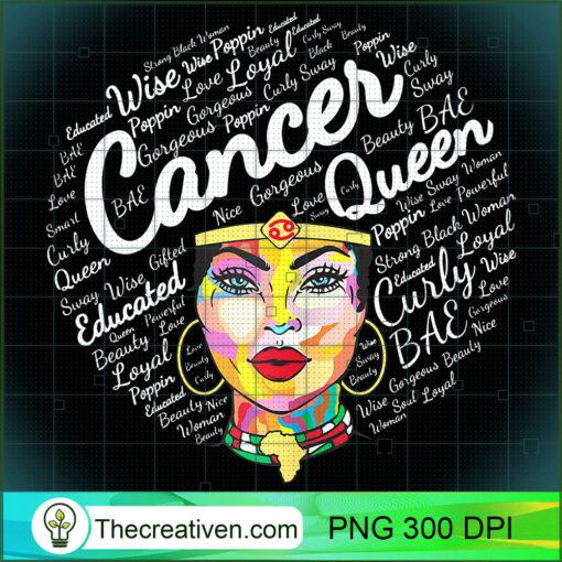 Cancer Gift For Black Women Born In June July Cancer Queen T Shirt copy