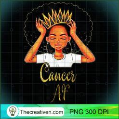 Cancer Queen Af Zodiac Floral PNG, Afro Women PNG, Cancer Queen PNG, Black Women PNG