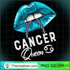 Cancer Queen Lips Chain Zodiac Astrology Womens PNG, Afro Women PNG, Cancer Queen PNG, Black Women PNG