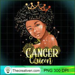 Cancer Queen Strong Smart Afro Melanin Gift Black Women PNG, Afro Women PNG, Cancer Queen PNG, Black Women PNG