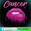 Cancer Zodiac Birthday Pink Lips T Shirt for Black Women copy