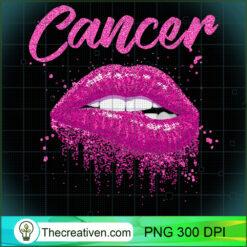 Cancer Zodiac Pink Lips Black Women PNG, Afro Women PNG, Cancer Queen PNG, Black Women PNG