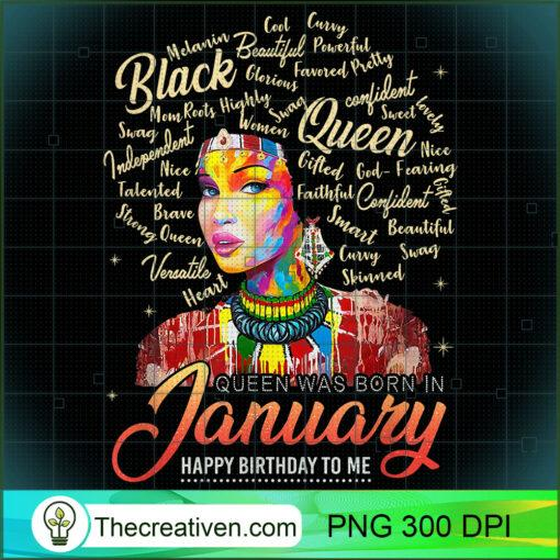 Capricorn African Pride Queen Was Born In January Birthday T Shirt copy