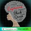 Capricorn Black Queen Birthday Afro T Shirt for Black Women copy