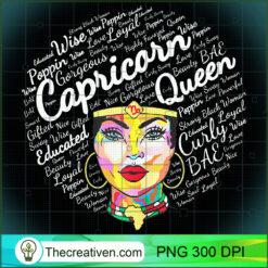 Capricorn Black Queen Melanin Black Girl PNG, Afro Women PNG, Capricorn Queen PNG, Black Women PNG