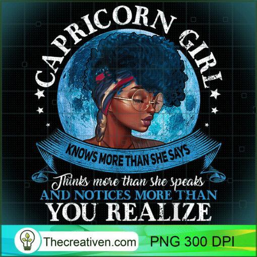 Capricorn Girls Black Queen Best January Birthday Gift T Shirt copy