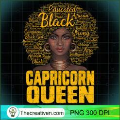 Capricorn Queen Black Woman Natural Hair African American PNG, Afro Women PNG, Capricorn Queen PNG, Black Women PNG
