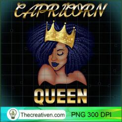 Capricorn Queen Born December-January Black Queen Birthday PNG, Afro Women PNG, Capricorn Queen PNG, Black Women PNG