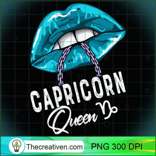 Capricorn Queen Lips Chain Zodiac Astrology Symbol Womens Long Sleeve T Shirt copy