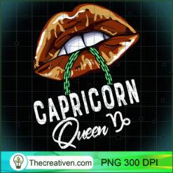 Capricorn Queen Lips Sexy Black Queen January Womens PNG, Afro Women PNG, Capricorn Queen PNG, Black Women PNG
