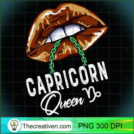 Capricorn Queen Lips Sexy Black Queen January Womens Long Sleeve T Shirt copy