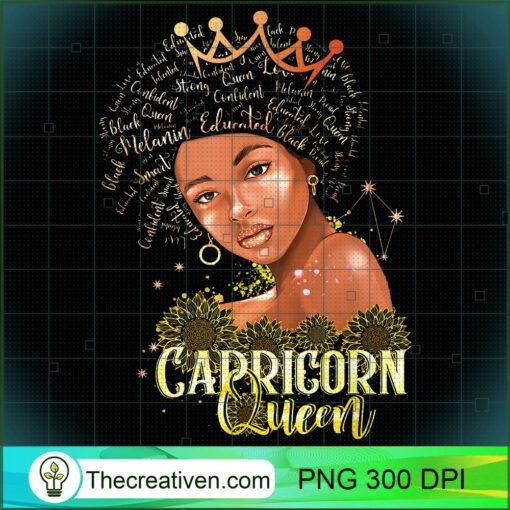 Capricorn Queen Strong Smart Afro Melanin Gift Black Women T Shirt copy