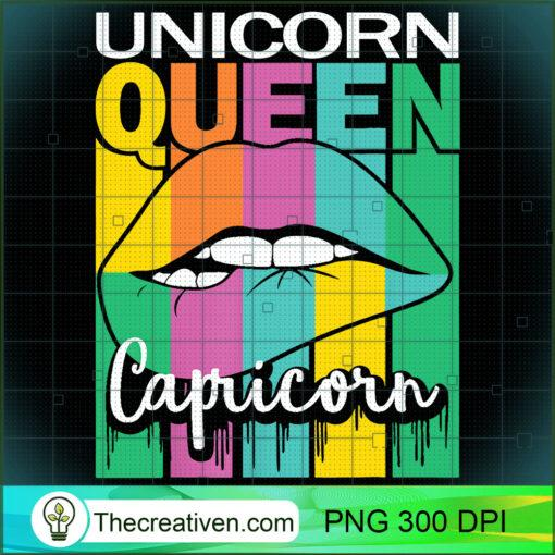 Capricorn Unicorn Queen Zodiac Sign Vintage Pride Birthday T Shirt copy