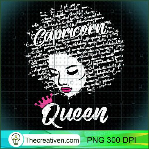 Capricorn Zodiac Birthday Afro Gift Hoodie for Black Women copy