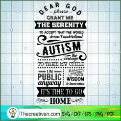 Dear God Please Grant Me SVG Free, Autism SVG Free, Free SVG For Cricut Silhouette