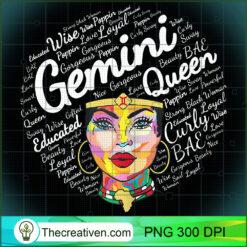 Gemini Black Queen Melanin Black Girl PNG, Afro Women PNG, Gemini Queen PNG, Black Women PNG