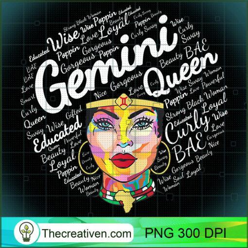 Gemini Black Queen Shirt Birthday Gift Melanin Black Girl T Shirt copy