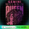 Gemini Melanin Queen Strong Black Woman Zodiac Horoscope Pullover Hoodie copy