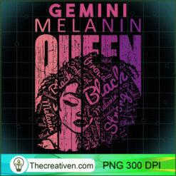 Gemini Melanin Queen Strong Black Woman Zodiac Horoscope PNG, Afro Women PNG, Gemini Queen PNG, Black Women PNG
