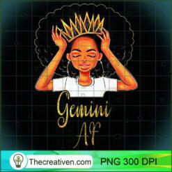 Gemini Queen AF Zodiac Floral PNG, Afro Women PNG, Gemini Queen PNG, Black Women PNG