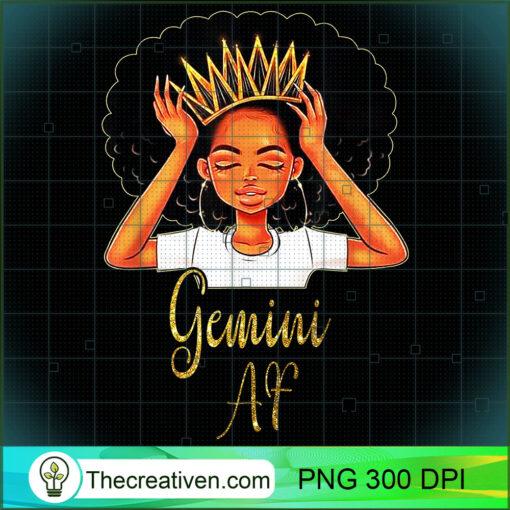 Gemini Queen AF Zodiac Floral Birthday T shirt Gifts copy