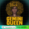 Gemini Queen Black Woman Afro Natural Hair African American Pullover Hoodie copy
