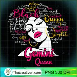 Gemini Queen Funny for Black Women Girl PNG, Afro Women PNG, Gemini Queen PNG, Black Women PNG