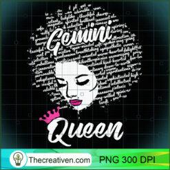 Gemini Zodiac Afro Black Women PNG, Afro Women PNG, Gemini Queen PNG, Black Women PNG