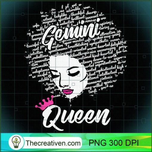 Gemini Zodiac Birthday Afro Gift T Shirt for Black Women copy