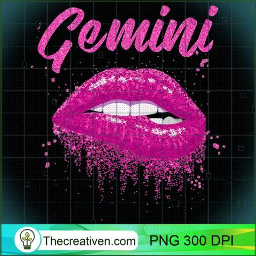 Gemini Zodiac Birthday Pink Lips T Shirt for Black Women copy