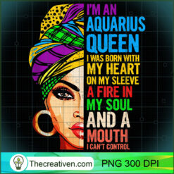 Gift For Aquarius Women January February Queen PNG, Afro Women PNG, Aquarius Queen PNG, Black Women PNG