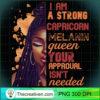 I Am Strong Capricorn Melanin Queen Cute Birthday Womens Sweatshirt copy
