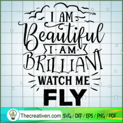 I Am Beautiful I Am Brilliant SVG Free, Autism SVG Free, Free SVG For Cricut Silhouette