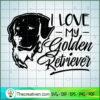 I love my Golden Retriever for black copy